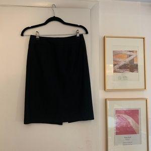 J Crew Super 120s Suiting Black Skirt 0